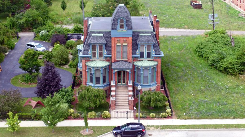 Old Mansion on Edmund PL - Brush Park, Detroit, Michigan