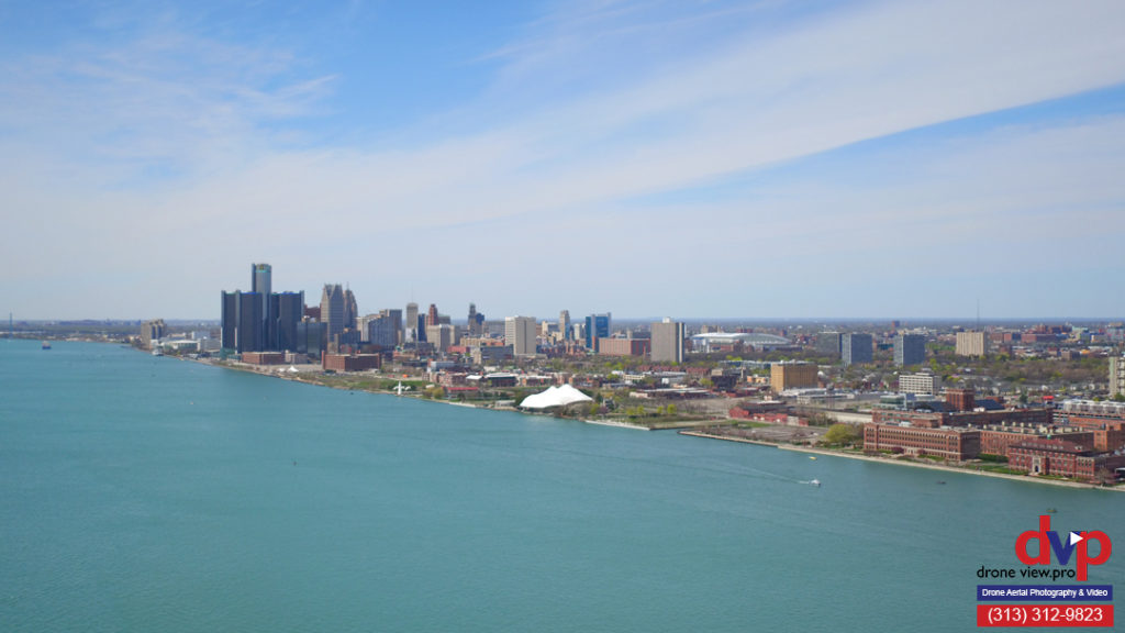 Downtown Detroit view from Belle Isle